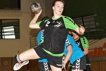 Mladá hodonínská pivotka Irena Ivičičová dala Havlíčkovu Brodu jediný gól.