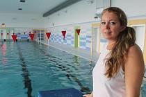 Hodonínský krytý plavecký bazén první den po znovuotevření.