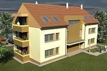 Trojpodlažní bytový dům v Hovoranech bude mít osm bytů.