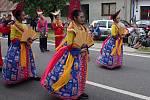 Strážnice o víkendu žila třiasedmdesátým folklorním festivalem. Ve slavnostním průvodou se představili i hosté u Indonésie.