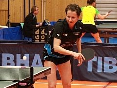 Zkušená stolní tenistka Renáta Štrbíková (na snímku) porazila kamarádku Danu Čechovou 3:1 na sety a pomohla Hodonínu k druhé finálové výhře nad Moravským Krumlovem.