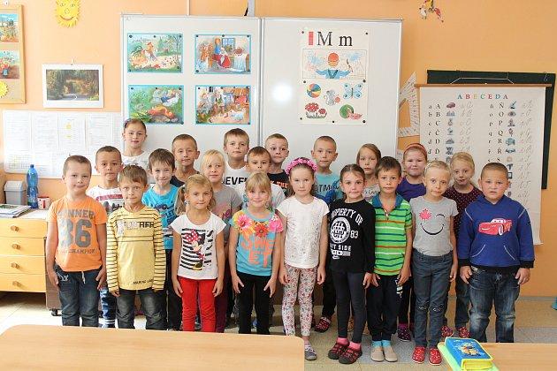 Žáci první třídy ze ZŠ Rohatec.