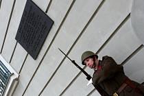 Vzpomínka na 15. březen 1939 před hodonínskou radnicí.