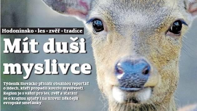 Titulní strana týdeníku Slovácko, vychází 28. července.