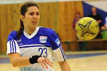 Mladá spojka HC Veselí nad Moravou Jasmínka Vargová patří mezi nejlepší interligvé střelkyně.