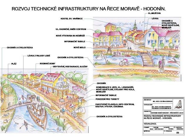 Okolí Staré Moravy se možná v příštích letech změní. Projekt turistického multifunkcního domu a lávky přes řeku s kotvící lodí plánuje František Ondruš.