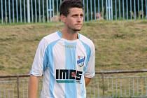 Záložník Aleš Radmil (na snímku) se stejně jako spoluhráči na hřišti v Lednici střelecky neprosadil.  Fotbalisté FC Veselí nad Moravou na úvod jara remizovali 0:0.
