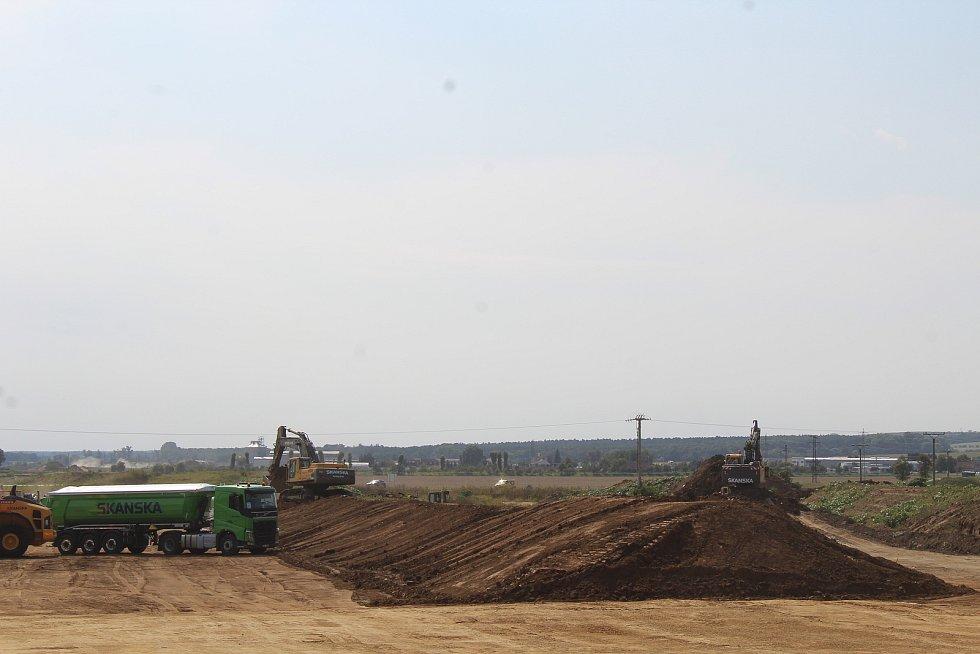 Slavnostní zahájení stavby úseku dálnice D55 Staré Město - Moravský Písek u Nedakonic.