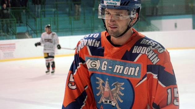 Hodonínský útočník Martin Špok se proti juniorům Komety Brno střelecky neprosadil.