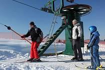Nová lyžařská sjezdovka v Nové Lhotě.