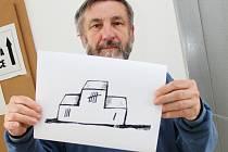 V mezinárodní soutěži Zlatý súdok obsadil hodonínský výtvarník Jiří Hiršl třetí místo.