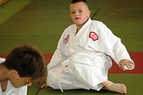Mezi nejmladší hodonínské judisty patří osmiletý Tomáš Podlas (na snímku) a devítiletý Matěj Hřebačka.