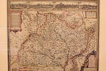 Komenského mapa Moravy byla na svou dobu velmi podrobná.