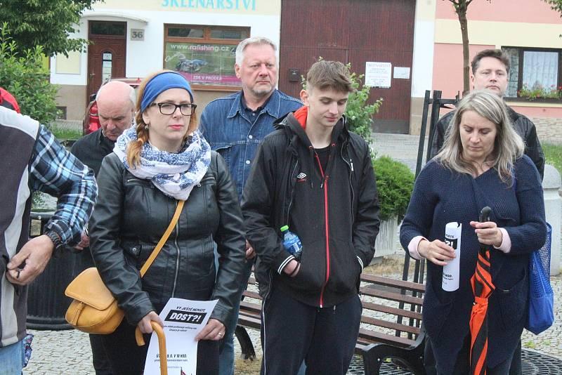 Protestní akce Milion chvilek pro demokracii na Bartolomějském náměstí ve Veselí nad Moravou.