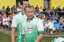 Fotbalisté divizního Bzence přehráli ve středečním přípravném zápase Spartu Brno 4:1. V sestavě Slovanu byl i krajní bek Jan Mokrý (na snímku).