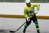 Sudoměřický obránce Tomáš Hübl (na snímku) musel stejně jako zbytek týmu skousnout další dvě porážky.
