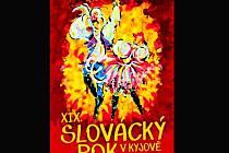 Pohlednice propagující Slovácký rok v Kyjově.