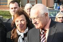 Prezident Václav Klaus v Mikulčicích