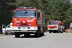 Vozy k požáru jezdí nejčastěji přes Bzenec-Přívoz, odkud vede do míst zpevněná cesta.