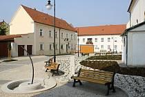 Strážnická Kostelní ulice.