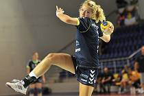 Slovenská reprezentantka Monika Rajnohová (na snímku) v minulosti nosila i dres Veselí nad Moravou. V pátek se třiadvacetiletá spojka postaví proti bývalému klubu.