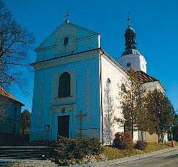 Kostel Nanebevzetí Panny Marie ve Ždánicích.