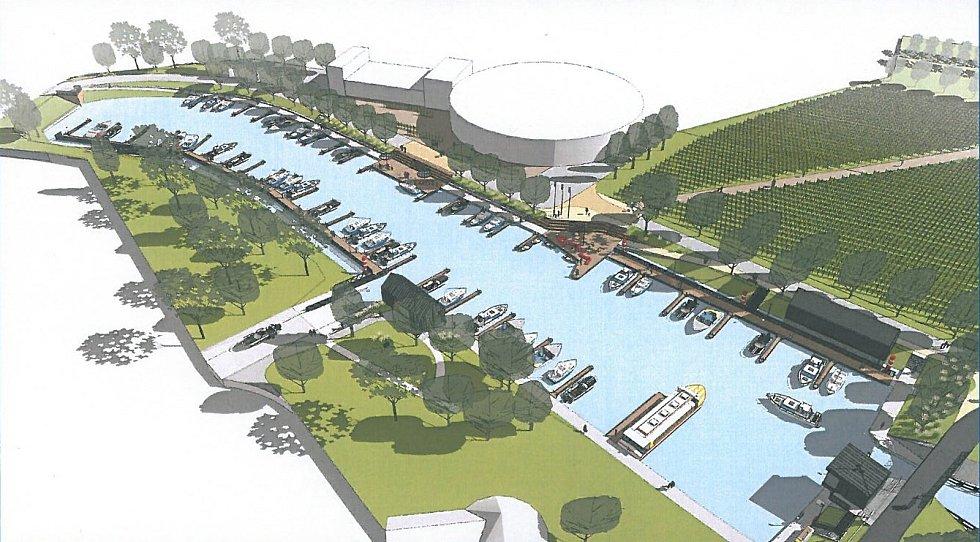 Rozšířený přístav ve Veselí nad Moravou i nový areál vinařství.