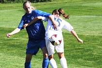 Ani hodonínská odchovankyně Julie Fritzová (v modrém) porážce Liberce nezabránila. Slovácko vyhrálo na hřišti v Šardicích 5:1.