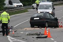 Nehoda tří aut omezila provoz na silnici první třídy číslo 54 u Rohatce.