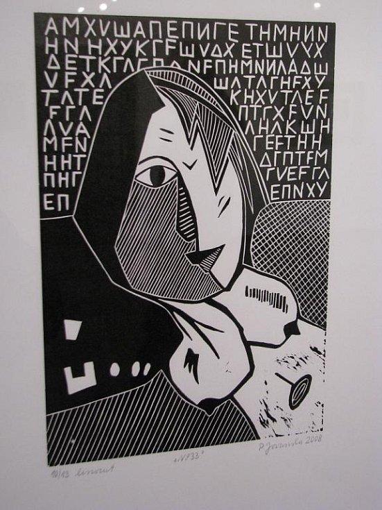 Petra Jovanovská vystavuje ve Veselí nad Moravou své grafiky.