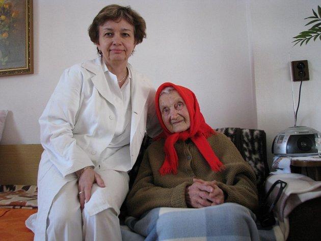 Marie Horká z Mikulčic oslavila sté první narozeniny