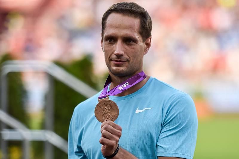 56. ročník atletického mítinku Zlatá tretra, který se konal 28. června 2017 v Ostravě. Na snímku Vítězslav Veselý.