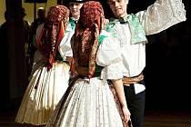 Strážnický soubor Danaj vystoupil na Národním krojovém plesu.