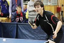 Hodonínský stolní tenista Vítězslav Podrazil.