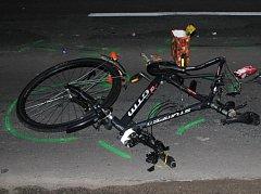 Nehoda s těžkým zraněním u Černého mostu v Hodoníně.