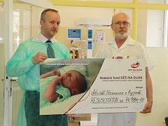 Kyjovská nemocnice dostala speciální resuscitační přístroj, který může zachránit život čerstvě narozeným miminkům, trpícím poporodními komplikacemi s dýcháním.