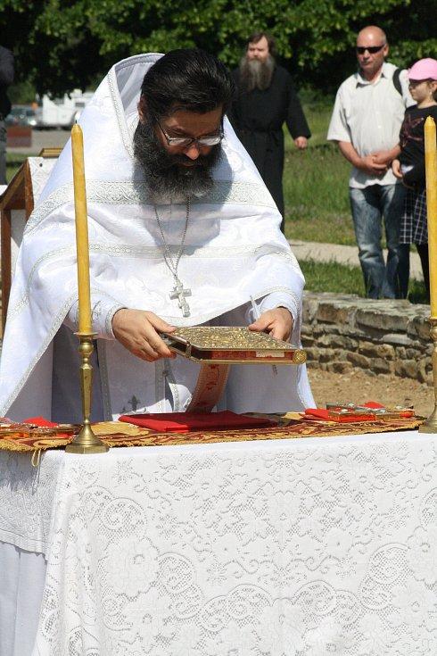 Jaro v Rasticově městě Morava. Pravoslavná cyrilometodějská pouť se svatou liturgií.