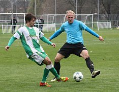 Ani přesné zásahy útočníka Tomáše Rešky (na snímku vlevo) fotbalistům Bzence nepomohly.