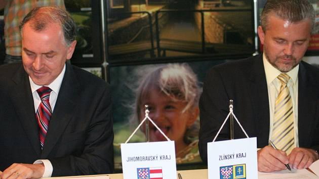Hejtmani: Baťův kanál a Slovácko nás spojují