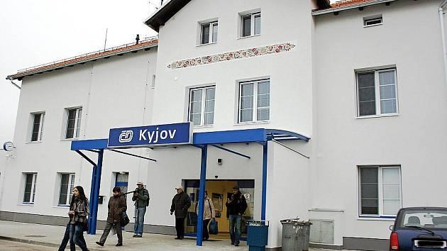 Kyjovské nádraží.