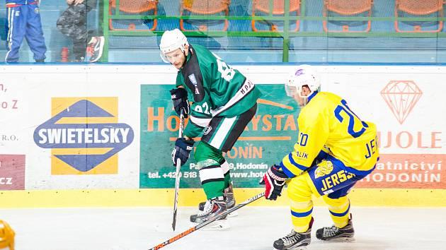 Novým trenérem SHKM Hodonín je Michal Kuba (na snímku ještě jako hráč v zeeném dresu).