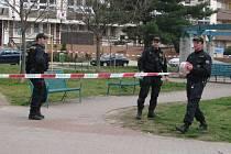 Podezření na bombu v hodonínské pobočce Komerční banky.