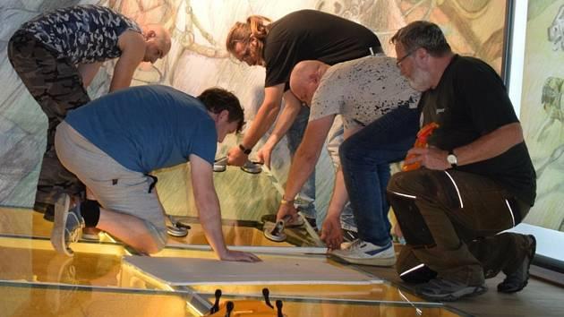 Přípravy nové archeologické expozice o Langobardech ve Vlastivědném muzeu v Kyjově.