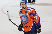 Třicetiletý útočník SHK Hodonín Pavel Kříž zaznamenal proti poslední Chotěboři tři gólové přihrávky.