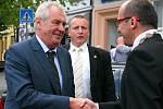 Prezident České republiky Miloš Zeman navštívil Kyjov.