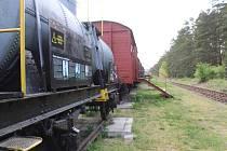 Stanice s muzeum na železniční vlečce v Ratíškovicích. Vyjíždějí odtud oblíbené šlapací drezíny.