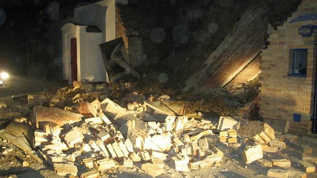 Zbořené sklepy v Kyjově