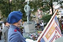Lidé v Hodoníně vzdali poctu Masarykovi.