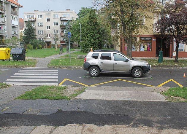 Místo nehody v Měšťanské ulici v Hodoníně.