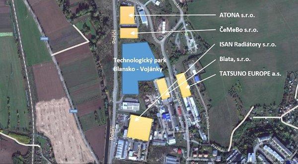Průmyslová zóna vBlansku se zaplňuje. Výrobní halu začne stavět Pyrotek CZ. Projekt Technologický park Blansko – Vojánky má zatím zpoždění.
